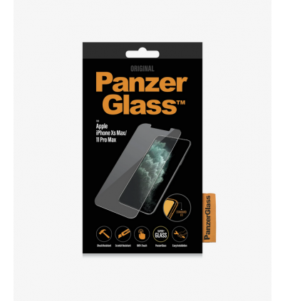 Original PanzerGlass™ Standard Fit Series Full Frame Coverage Privacy Tempered Glass Screen Protector for Apple iPhone 11 Pro Max / Apple iPhone Xs Max
