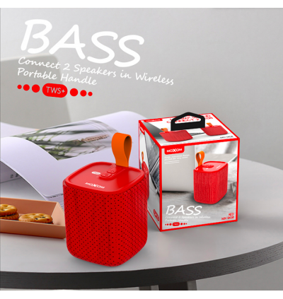 Moxom MX-SK08 Handle Sound TWS Wireless Portable Bass Music Box Speaker for Samsung / Apple / Huawei / Xiaomi / Oppo / Vivo