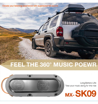 Moxom MX-SK09 Booming Bass Mini Portable 10W Wireless Sound Bar Speaker for Samsung / Apple / Huawei / Xiaomi / Oppo / Vivo