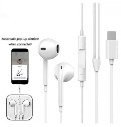 GL069 Pop-Up Window Lightning Headset Earphone for Apple iPhone 7 / iPhone 8 /  iPhone XR / iPhone XS / iPhone Xs Max / iPhone 11 /  iPhone 11 Pro /  iPhone 11 Pro Max