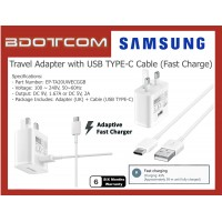 Original Samsung Adaptive Fast Charging Travel Adapter Charger with USB TYPE-C Cable for Samsung Galaxy Tab S4, Tab S5E, Tab S6, Note10, Note 10 Plus, Note 9, Note 8, S20, S20+, S20 Ultra
