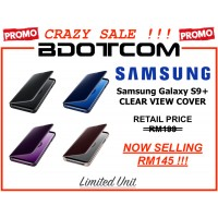 (CRAZY SALES) Original Samsung Clear View Standing Cover Case for Samsung Galaxy S9+ Samsung Galaxy S9 Plus