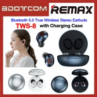 Remax TWS-8 Bluetooth 5.0 True Wireless Stereo Earbuds with Charging Case for Samsung / Apple / Huawei / Xiaomi / Oppo / Vivo