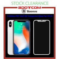 [CLEARANCE] Baseus 0.23mm PET Soft 3D Tempered Glass for Apple iPhone X (White)