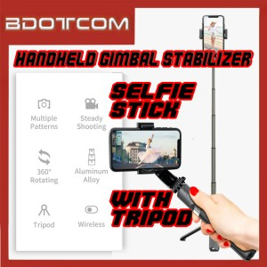 L08 Handheld Gimbal Stabilizer Wireless Selfie Stick with Tripod for Vlog / Youtube Video / Tiktok Video / Live Video / Facebook Video