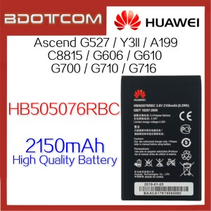 Huawei HB505076RBC 2150mAh Standard Replacement Battery for Huawei Y3 II / Ascend G527 / A199 / C8815 / G606 / G610 / G700 / G710 / G716