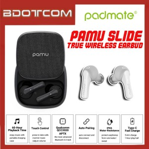 Original Padmate Pamu Slide Bluetooth 5.0 True Wireless Earphone with Wireless Charging Case