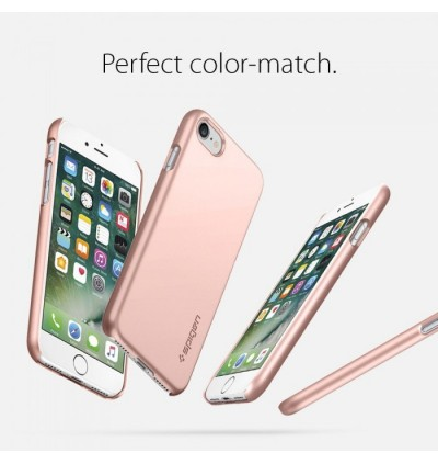 (CRAZY SALES) Original Spigen Thin Fit Protective Cover Case for Apple iPhone 7 / iPhone 8 (Rose Gold)