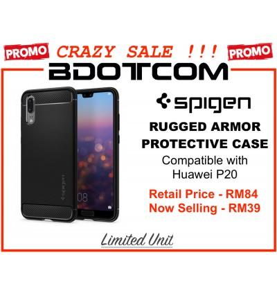 (CRAZY SALES) Original Spigen Rugged Armor Protective Cover Case for Huawei P20