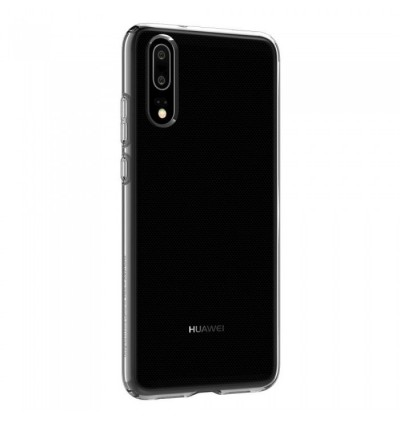 (CRAZY SALES) Original Spigen Liquid Crystal Protective Cover Case for Huawei P20 (Crystal Clear)