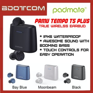 Padmate Pamu Tempo T5 Plus Bluetooth 5.0 True Wireless Earphone with Wireless Charging Case
