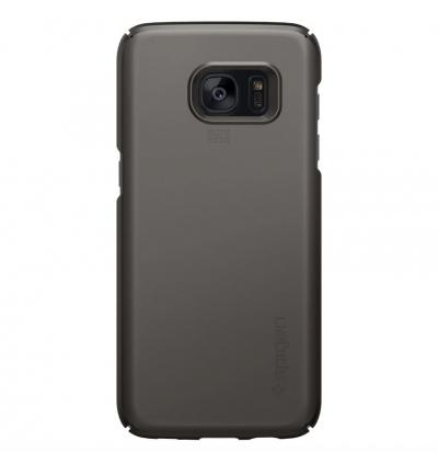 (CRAZY SALES) Original Spigen Thin Fit Series Protective Cover Case for Samsung Galaxy S7 Edge (Gunmetal)