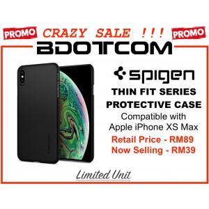 (CRAZY SALES) Original Spigen Thin Fit Series Protective Cover Case for Apple iPhone XS MAX (Black)