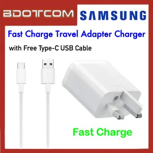 Samsung Fast Charge Travel Adapter Charger with TYPE-C USB Cable for Samsung Galaxy Tab S4, Tab S5E, Tab S6, Note10, Note 10 Plus, Note 9, Note 8, S10, S10+, S10E