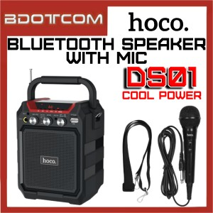 Hoco DS01 Cool Power series Bluetooth Wireless Portable Speaker with Wired Microphone