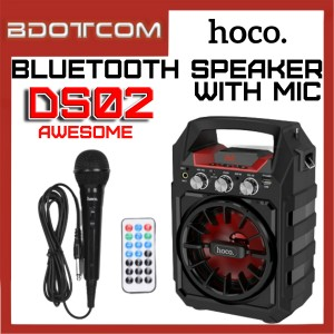 Hoco DS02 Awesome series Bluetooth Wireless Portable Speaker with Wired Microphone