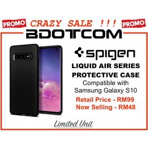 (CRAZY SALES) Original Spigen Liquid Air Protective Cover Case for Samsung Galaxy S10 (Matte Black)