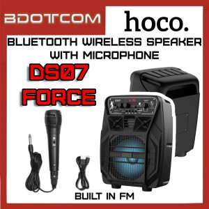 Hoco DS07 Force series Built In FM / Bluetooth Wireless Speaker with Wired Microphone