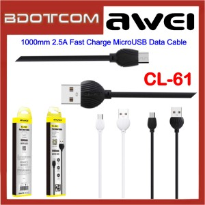 Awei CL-61 1000mm 2.5A Fast Charge MicroUSB Data Cable for Samsung / Huawei / Xiaomi / Oppo / Vivo