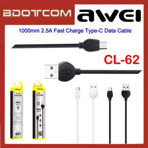 Awei CL-62 1000mm 2.5A Fast Charge Type-C Data Cable for Samsung / Huawei / Xiaomi / Vivo / Oppo