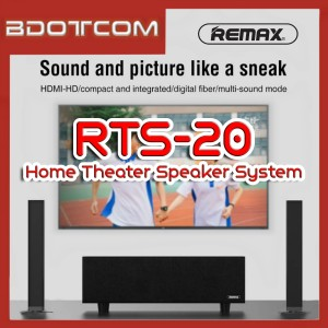 Remax RTS-20 Bluetooth Wireless Soundbar Home Theater System Speaker with Subwoofer