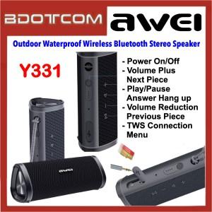 Awei Y331 Outdoor Waterproof Wireless Bluetooth Stereo Speaker for Samsung / Apple / Huawei / Xiaomi / Oppo / Vivo