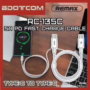 Remax RC-135C Chaining series Type-C to Type-C 5A PD Fast Charge Data Cable