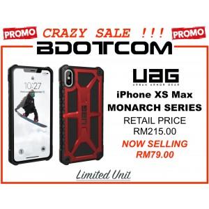 (CRAZY SALES) Original UAG Urban Armor Gear Monarch Series Military Grade Protection Case for Apple iPhone XS Max (Crimson)