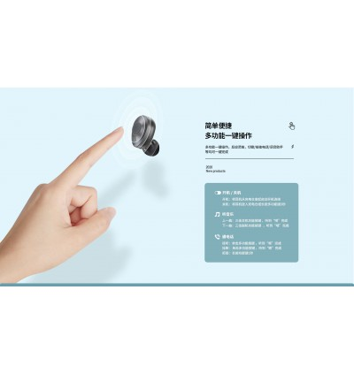 Remax TWS-21 Stereo Hifi Wireless Bluetooth V5.0 Earbuds with Charging Case for Samsung / Apple / Huawei / Xiaomi / Vivo / Oppo