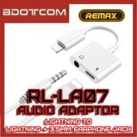 Remax RL-LA07 Concise Series Lightning to Lightning + 3.5mm Headphone Jack Audio Adaptor