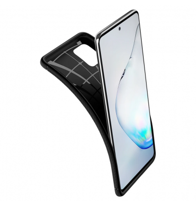 Original Spigen Rugged Armor Case Protective Cover for Samsung Galaxy Note10 Lite (Black)