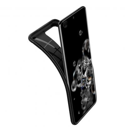 Original Spigen Rugged Armor Case Protective Cover for Samsung Galaxy S20 Ultra (Black)