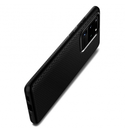 Original Spigen Liquid Air Case Protective Cover for Samsung Galaxy S20 Ultra (Matte Black)