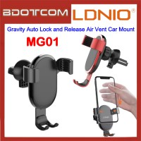 LDNIO MG01 Gravity Auto Lock and Release Air Vent Car Mount for Samsung / Apple / Huawei / Xiaomi / Oppo / Vivo