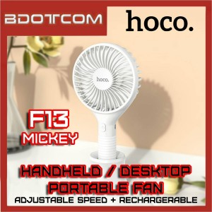 Hoco F13 Mickey Adjustable Speed Desktop / Handheld Fan for Indoor / Outdoor