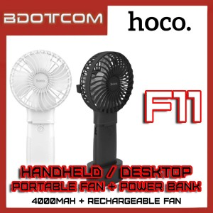 Hoco F11 Portable Handheld Mini Fan with 4000mAh Power Bank