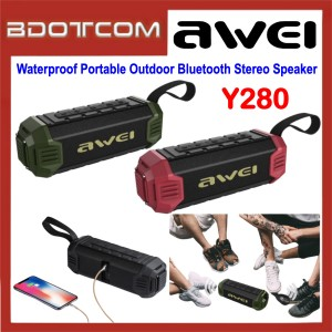 Awei Y280 Waterproof Portable Outdoor Bluetooth Stereo Speaker for Samsung / Apple / Huawei / Xiaomi / Vivo / Oppo