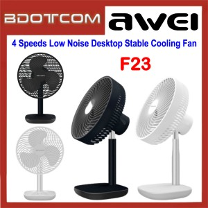Awei F23 4 Speeds Low Noise Desktop Stable Cooling Fan for Indoor / Outdoor