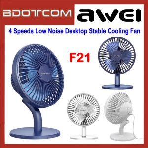 Awei F21 4 Shifts Speed Low Noise Desktop Circulation Stable Cooling Fan for Indoor / Outdoor