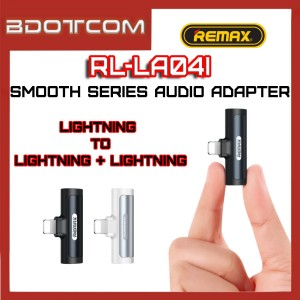 Remax RL-LA04i Smooth series Lightning to Lightning Port + Lightning Port Audio Jack Adaptor Headphone Convertor