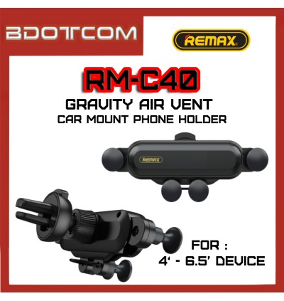 Remax RM-C40 Gravity Air Vent Car Mount Phone Holder with Invisible Bracket