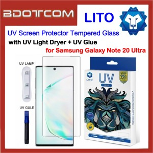 LITO UV Optical Liquid Glue Full Coverage Touch Sensitivity Glass Screen Protector with UV Dryer + UV Glue for Samsung Galaxy Note 20 Ultra