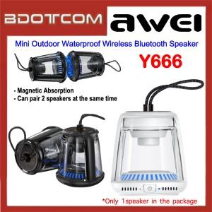 Awei Y666 Mini Portable Outdoor Waterproof Wireless Bluetooth Speaker for Samsung / Apple / Xiaomi / Huawei / Oppo / Vivo