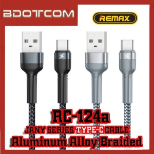 Remax RC-124a Jany series Aluminum Alloy Braided 2.4A Type-C Cable