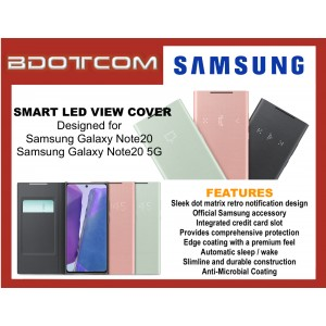 Original Samsung Smart LED View Cover Wallet Case for Samsung Galaxy Note20 / Samsung Galaxy Note20 5G