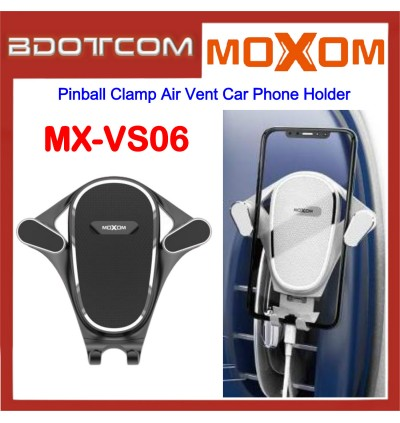 Moxom MX-VS06 Pinball Clamp Air Vent Car Phone Holder for Samsung / Apple / Xiaomi / Huawei / Oppo / Vivo