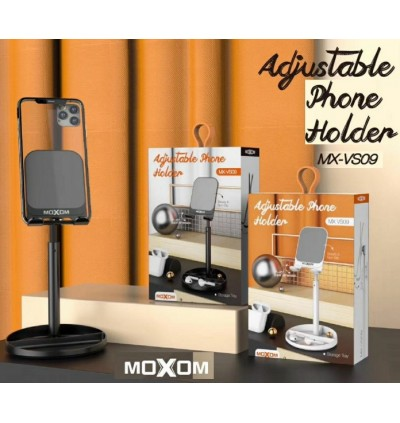 Moxom MX-VS09 Adjustable Desktop Phone Holder for Samsung / Apple / Xiaomi / Huawei / Oppo / Vivo / Smartphone / Tablet