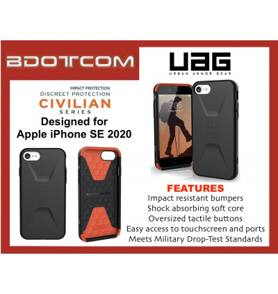 Original UAG Civilian Series Protective Cover Case for Apple iPhone SE 2020, iPhone SE 2nd Generation