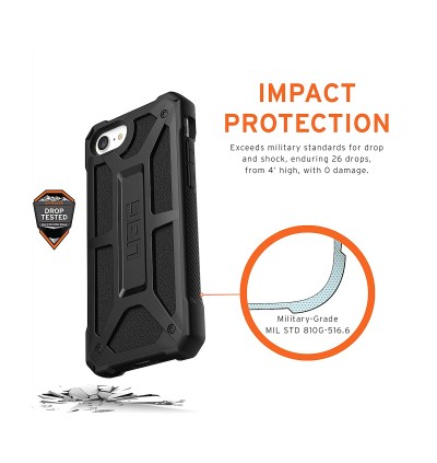 Original UAG Monarch Series 5 Layer Premium Protection Cover Case for Apple iPhone SE 2020, iPhone SE 2nd Generation