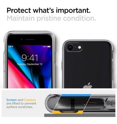 Original Spigen Crystal Flex Protective Cover Case for Apple iPhone SE 2020, iPhone SE 2nd Generation